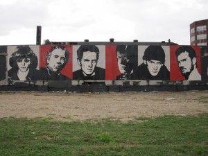 Mount Rushcore (Joey Ramone, Johnny Rotten, Joe Strummer, Glenn Danzig, Ian Mackaye, Henry Rollins)- Shepard Fairy, Asbury Park