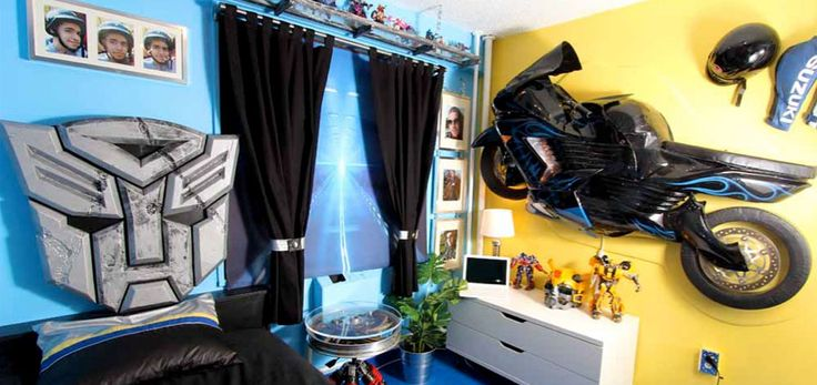 Motorcycle/Transformers Bedroom For Juan, A Young Man Living With Cerebral  Duchenne Muscular Dystrophy. See More Pics At Www.blissfulbedrooms.oru2026