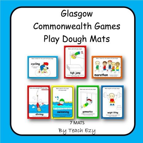 Commonwealth Games Play Dough Mats