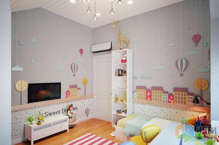 Интерьер детской для девочки, оформление детской комнаты
