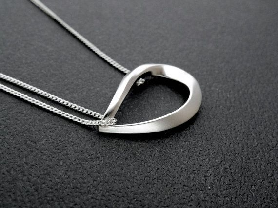 Silver Ring Necklace Silver necklace Simple necklace Circle necklace Thanksgiving sale Christmas Gift mom Birthday Gift best friend Birthday