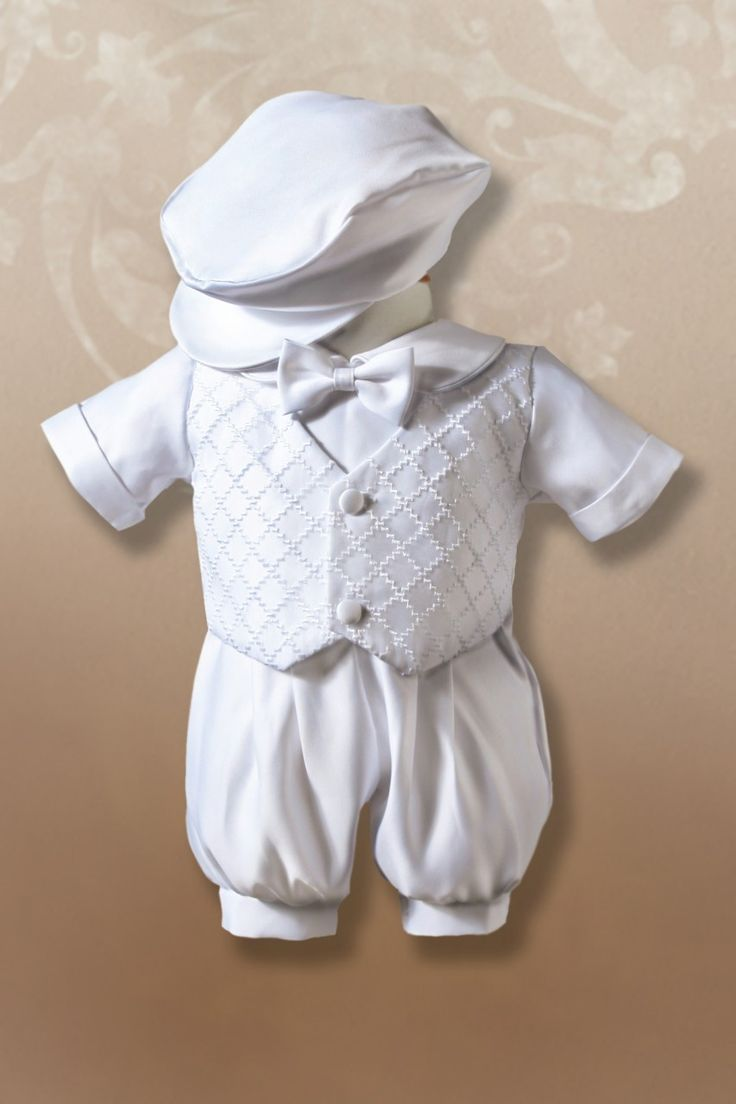 This is Vincent's baptism outfit, minus the hat. Surprised I randomly found it on here! He has matching shoes as well. All thanks to Great Grandma Harriet!