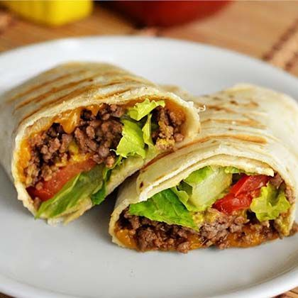 Cheese Burger Wraps