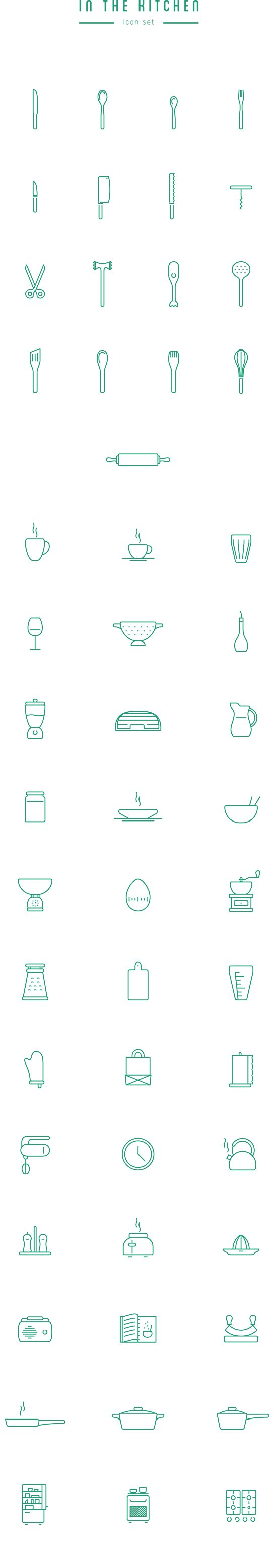 In The Kitchen U2013 Free Icon Set By Wojciech Zasina, Via Behance Part 84