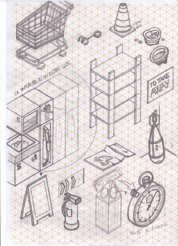 how to draw easy 3d art on isometric paper