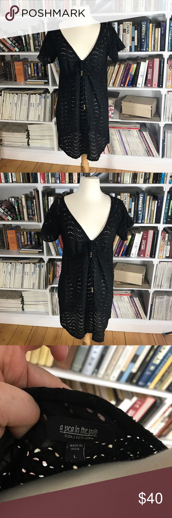 Pea In the Pod Maternity Swim Cover Up Black Pea In the Pod Maternity Swim Cover Up Black Crocheted eyelet design! Gorgeous! A Pea in the Pod Swim Coverups