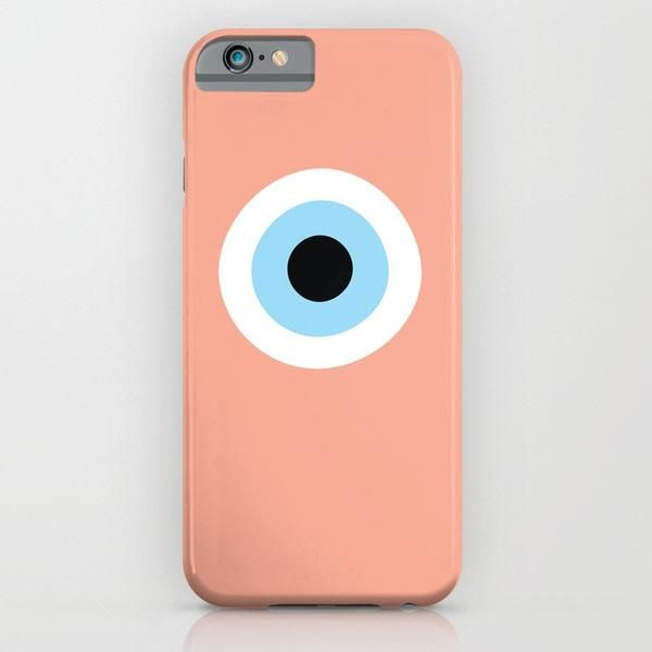 Peach Evil Eye phone case for iPhone 6/6s