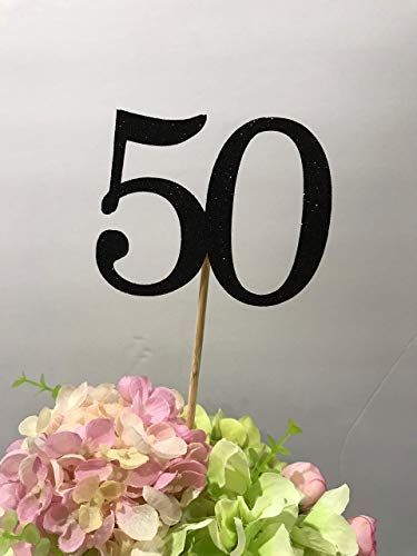 Amazon 50th Birthday Centerpiece Sticks Glitter Decoration Table Decorations Age 3ct Handmade
