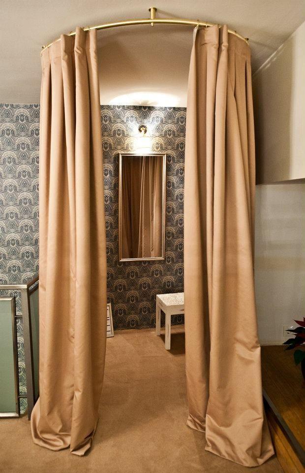 curtain idea for dressing room