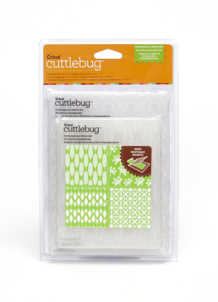 Cricut Cuttlebug 4-Piece Contemporary Nature Set for Scrapbooking