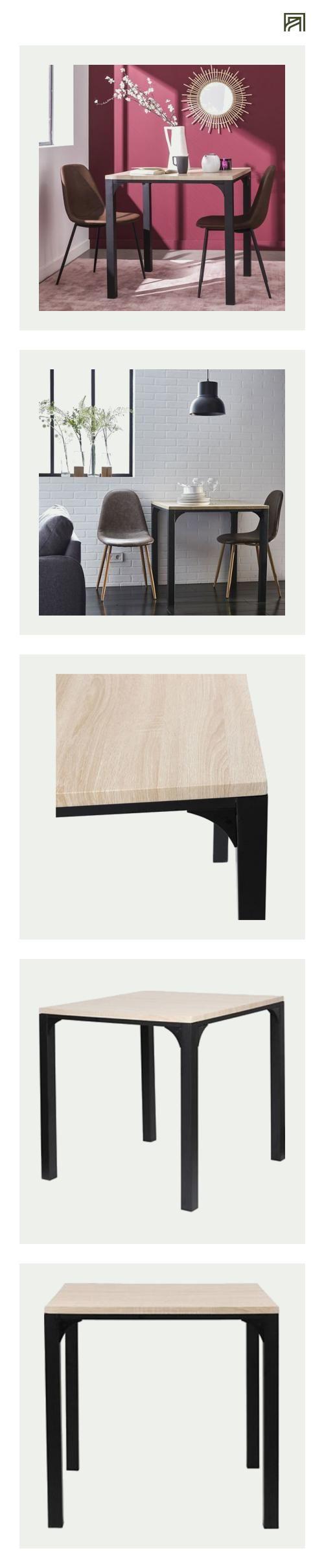 Alinea Kent Table Carree L80cm 4 Convives Alinea Decoration Table Inspiration Meubles Et Table Salle A Manger Salle A Manger Alinea Meuble Deco