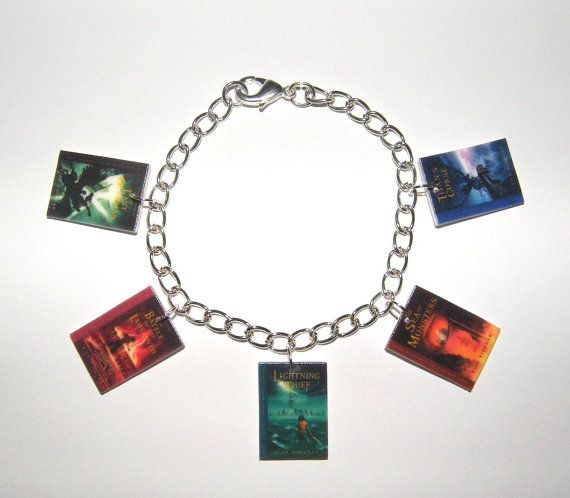 Charm Bracelet Percy Jackson Book Covers Jewelery via Etsy