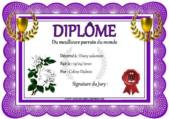 Faux Diplome Diplome Faux A Imprimer