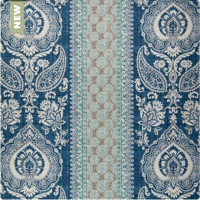 Fabric of the week: Greenhouse Fabrics Mediterranean Blue #upholstery #lasvegas #upholsteryworks #furniture #Mediterranean #Blue #victorian #sofa #chair #couch #Furniture #greenhouse
