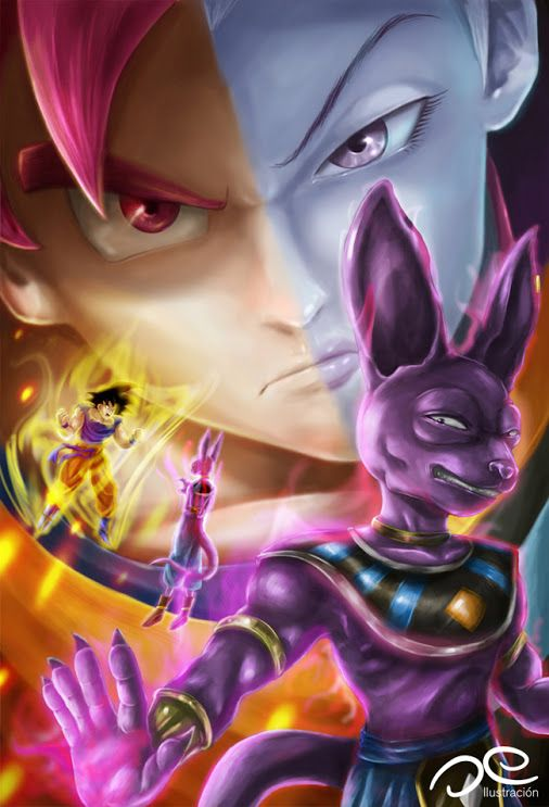 Pretty Cool Dragonball Z Battle Of Gods Art Loving Goku And Whis