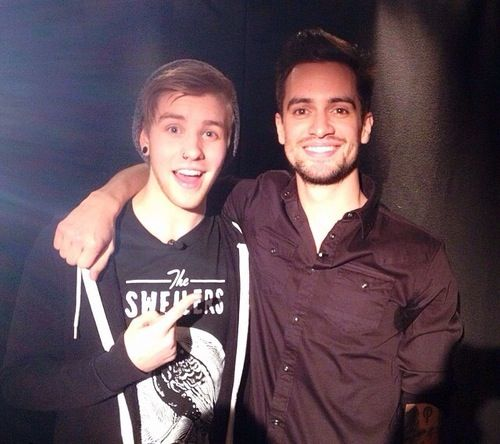 Brendon Urie and some other person who I don't care about...