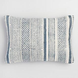 $25 Patchwork Stonewashed Dhurrie Lumbar Pillow