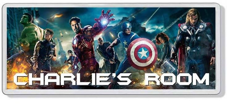 Details About The Avengers Personalised Bedroom Door