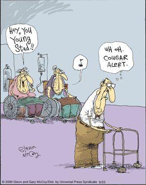 Old People Cartoons | Funny cartoons - Hey you young stud - Jokideo | Jokideo