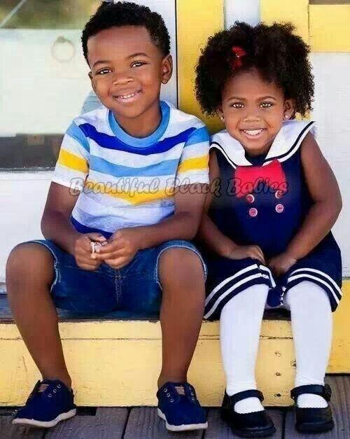 Beautiful black kids. Cute little girl / boys fashion  #kids fashion