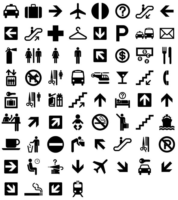 Pictogram directions locations