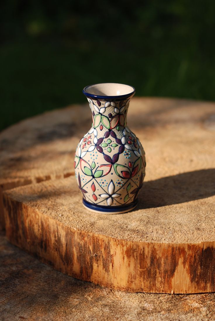 Mexican Hand Painted Small Vase