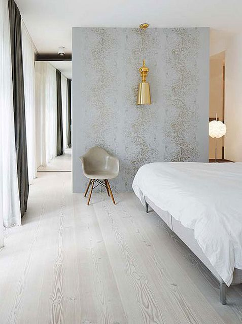 love the wide plank bleached floors