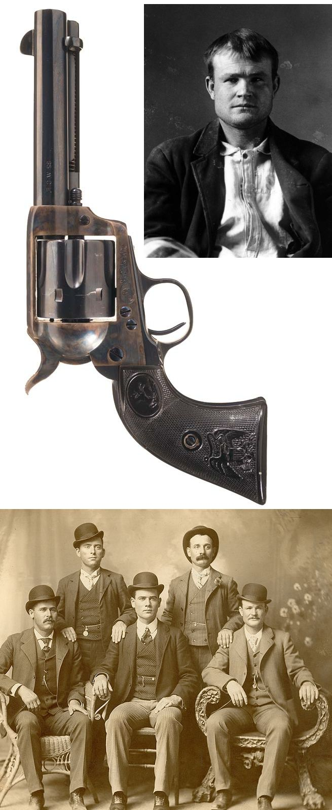"Antique Colt Single Action Army Revolver with Notarized Letter Attributing the Revolver to Famous Western Outlaw Robert Leroy Parker, Best Known as ""Butch Cassidy"" ,ca. 1896. Providence see   http://www.rockislandauction.com/viewitem/aid/59/lid/1213"