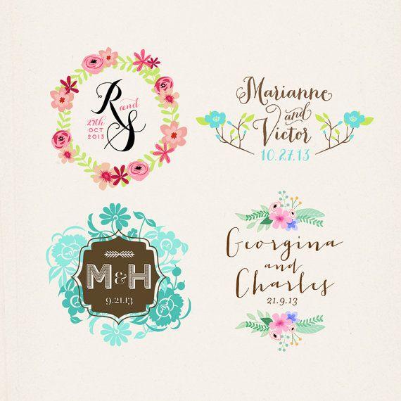 Wedding Monogram, Custom Wedding Logo, Printable Monogram, Digital Wedding Monogram