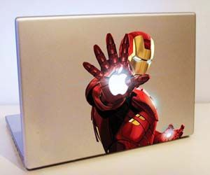 Make your MacBook even more aesthetically pleasing with this Iron Man MacBook Sticker. This vinyl sticker goes over the Apple logo, cleverly giving off a glowing effect to Iron Man's hand. These stickers are water resistant and won't leave any sticky residue if removed. Buy It $7.95 via Amazon.com