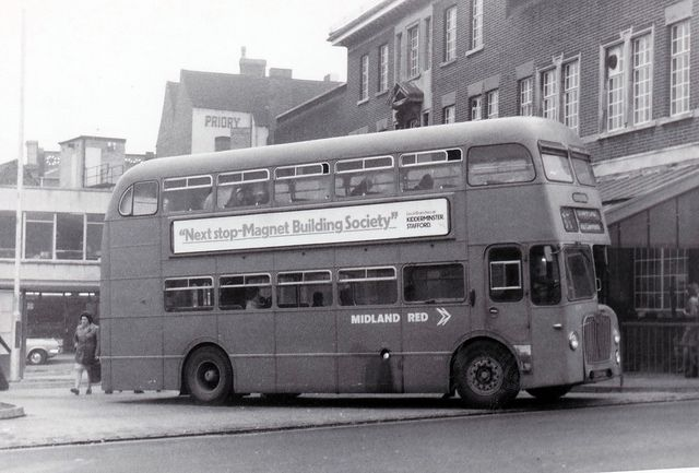 BMMO D9 - NBC Midland Red 6374HA in Walsall 1975
