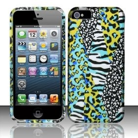 Apple iPhone 5 Protector Case-Rubberized Cover in Teal Safari Design for AT, Verizon & Sprint $7.85 while supplies last!