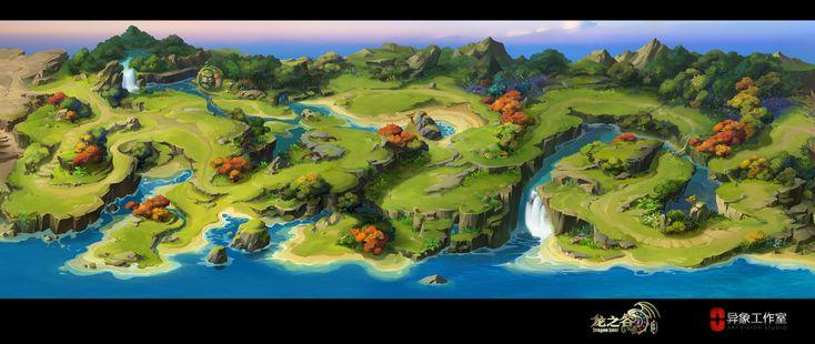 ArtStation - Dragon Nest (ios) Big level Map, Dawnpu at Art vision studio