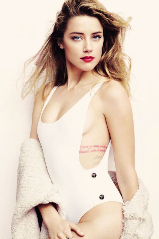 Amber Heard in Thapelo Paris photographed by Liz Collins for Elle US, July 2015.