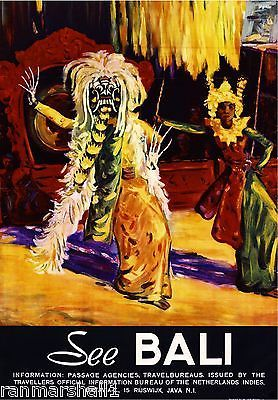 See Bali Indonesia Vintage Travel Advertisement Art Poster. ❣Julianne McPeters❣ no pin limits