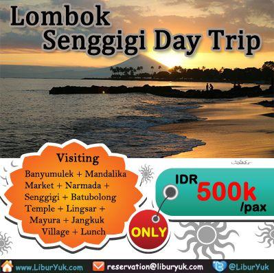 Anda ingin mengunjungi pantai Senggigi Lombok?yuk booking segera paket Senggigi Day Trip dijamin liburan Anda seru dan harga juga terjangkau.  Dapatkan Special Paket tersebut dari #LiburYuk.com di http://liburyuk.com/bookitem/123/2013-11-12/SENGGIGI-DAY-TRIP- #abbeytravel #jalan2 #holiday