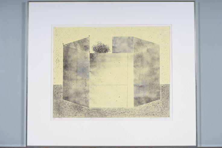Reino Hietanen: Aitaus, 1992, litografia, 58x72 cm, edition 2/25 - Huutokauppa Helander 1/2016