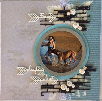 Pet Beach layout and some cards - by Toni Herron