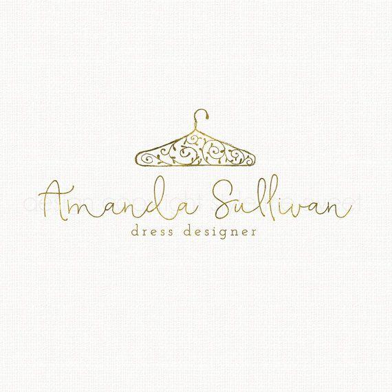 Clothing Hanger Logo Design Seamstress Logo By Stylemesweetdesign