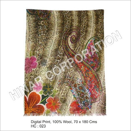 Digital Print Wool Shawls