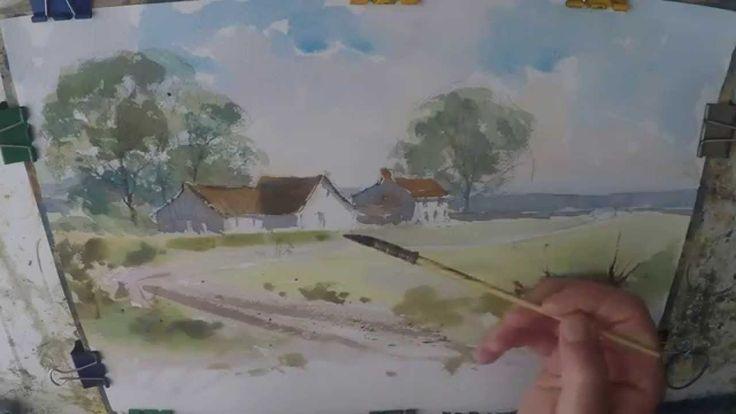 air max 95 360 mens Farmhouse Cottage Watercolour Painting Demo Watercolor Farm