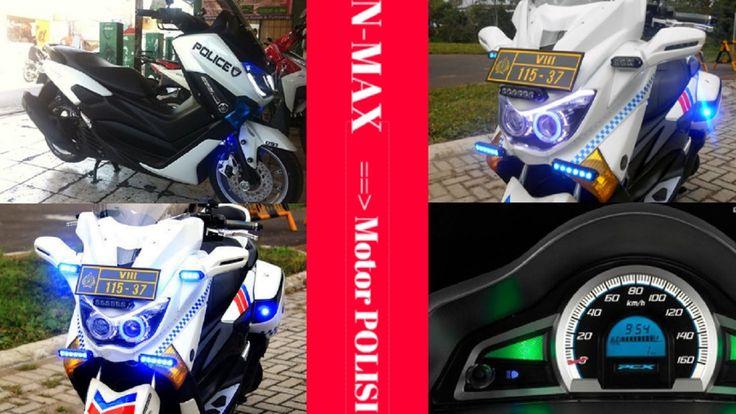 Gokil Nie! Modifikasi Yamaha NMAX Jadi Motor Polisi Mantab Abizzz!!!