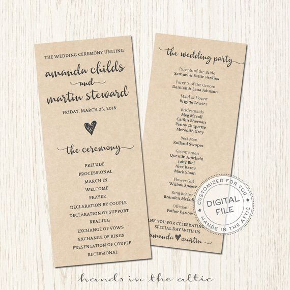 Wedding Agendas  PetitComingoutpolyCo