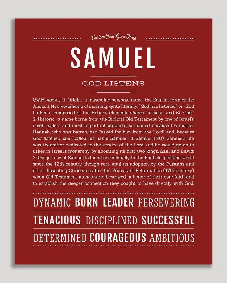 Samuel | Name Art Print in 2020 | Classic names ...