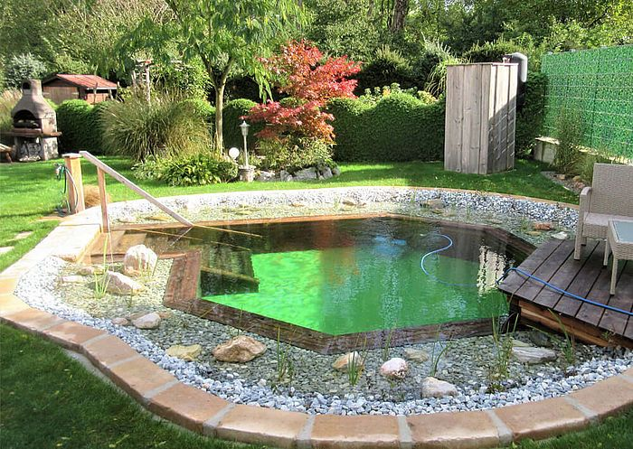 Naturpool In Hexagonform In 2020 Schwimmteich Natur Pool Naturschwimmbader