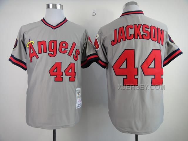 http://www.xjersey.com/angels-44-jackson-grey-1985-throwback-jerseys.html ANGELS 44 JACKSON GREY 1985 THROWBACK JERSEYS Only $33.00 , Free Shipping!