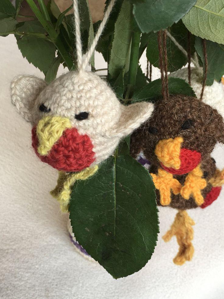 Robin. Slouch Critter Crochet Kit by CotswoldAlpacas on Etsy