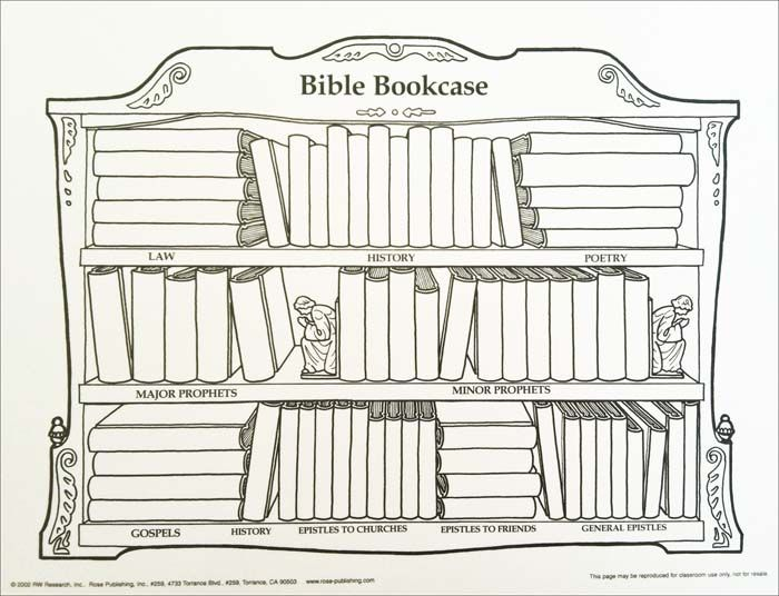 Books Of The Chart Printable Bookcase Wall School Coloring Pages Bookshelf
