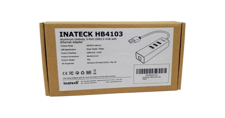 Inateck HB4103 Three-Port USB 3.0 / Ethernet Hub Review
