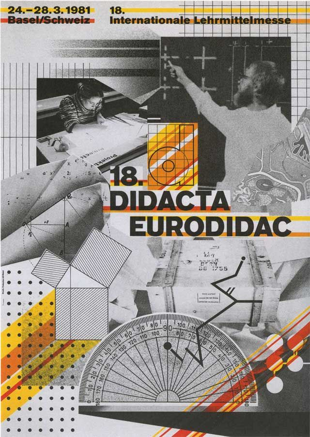 "Wolfgang Weingart, ""18th Didacta/Eurodidac"" Worldformat poster for the convention on teaching aids, film layering (1981)"